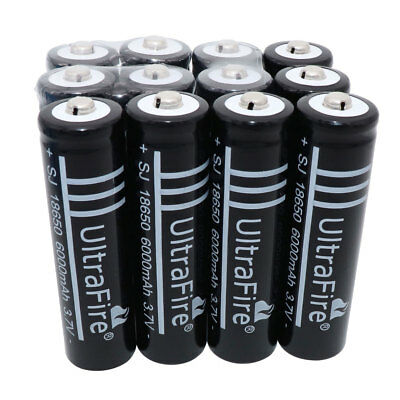 1/2/4/6/8/10X 18650 3.7V 6000mAh Li-ion Rechargeable Battery for Flashlight Fans