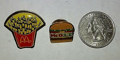 McDonald's ~ Vintage Collectable Pins - McDLT & French Fry -- Rare Combo