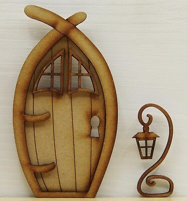 Narnia 3D Fairy Door Wooden Craft Kit with Lantern and Windows