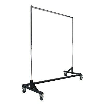 """BRAND NEW! Z-Rack, Black Retail Store Home 4"""" Wheels, Adjust Upright to 80"""" H"""