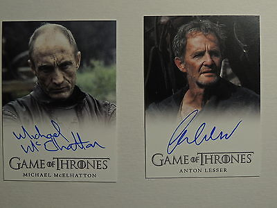 Game Of Thrones Aut0 Lot Michael Mcelhatton Roose Bolton Anton Lesser Qyburn