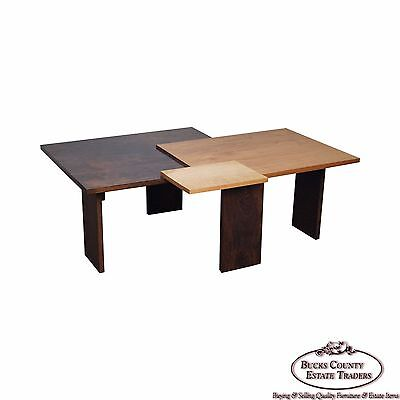 Jeffrey Greene Studio Mixed Wood Geometric Coffee Table