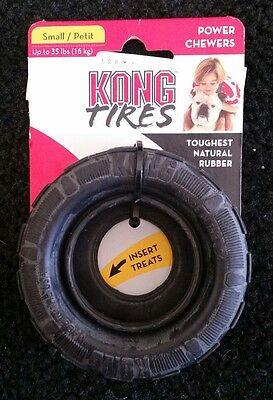 KONG Extreme TRAXX Rubber Tire Shaped Chew and Treat Dog Fetch Toy Small (KT21)