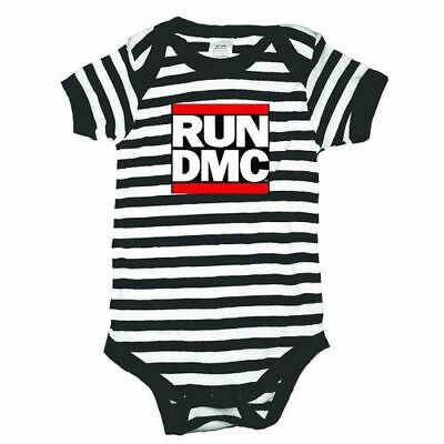 Run DMC Logo Striped Infant Baby Romper Shirt All Sizes New
