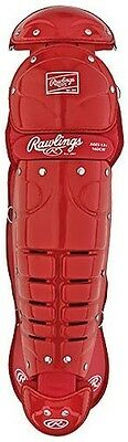 Rawlings Intermediate 15 Baseball Leg Guards S - SCARLET INTERMEDIATE 15 (AGES 1
