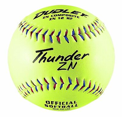 Dudley Non-Association Thunder ZN Slow Pitch Composite Soft Ball - Dozen. Delive