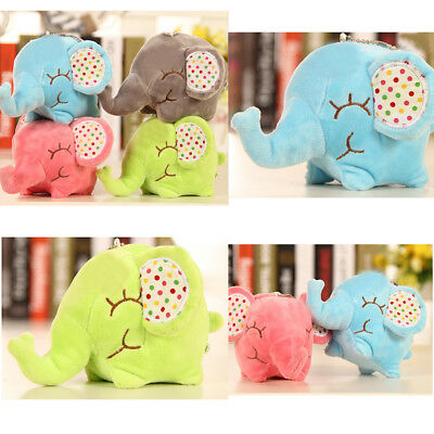 Plush Toy Dolls Elephant Stuffed Toy Doll Sucker Pendants Cars& Window Toy14cm#