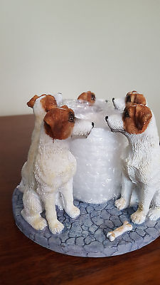 Jack Russell Terrier Dog Circle Votive Candle Holder New In Box Puppy