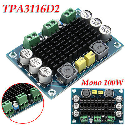 TPA3116D2 100W Class D Digital Mono Subwoofer Amplifier Board 12V-26V Modul New