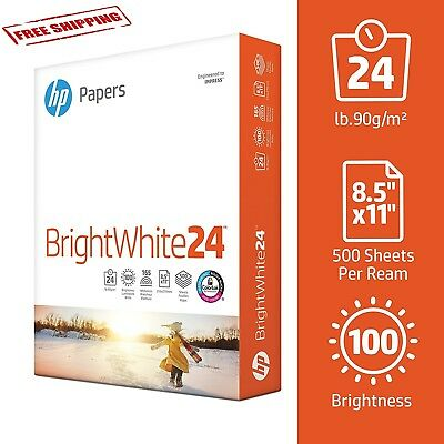 HP Printing Paper White Inkjet & Laser Poly Wrap Letter 500 Sheets Made in USA