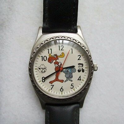 Rare Rocky and Bullwinkle 1993 Fossil Watch Limited Edition 9545 of 15000 Nice!
