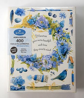 Vintage MARJOLEIN BASTIN Blue Floral Memories Photo Album/400 photos/3-ring/NOS