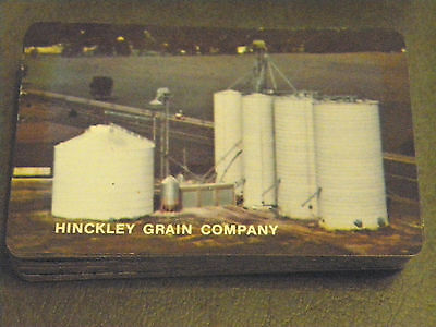 Vintage Hinckley Grain Company Promotional Playing Cards Hinckley, Illinois Usa