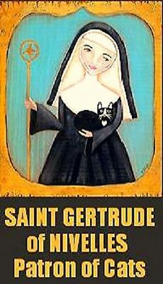 Saint Gertrude of Nivelles Patron of Cats Magnet #21