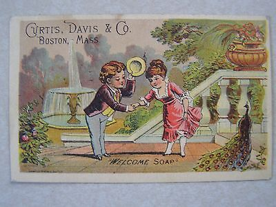Victorian advert card, Welcome Soap, Boston