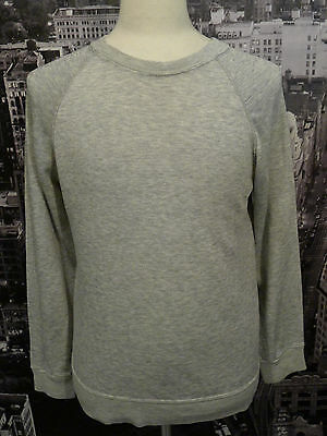 VINTAGE 80s HEATHER GRAY RAGLAN SWEATSHIRT MEDIUM RAYON PAPER THIN USA ST JOHN'S