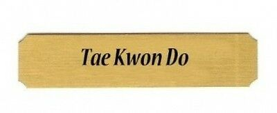 Tae Kwon Do name plate. Free Delivery