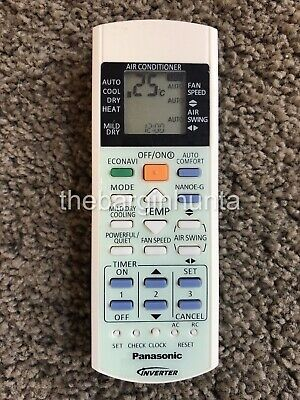 Panasonic Replacement Air Conditioner Remote ECONAVI Inverter NANOE-G