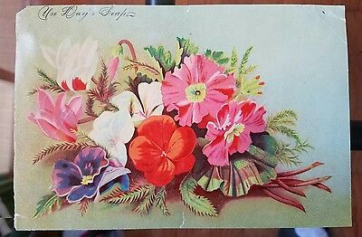 Large Victorian Trade Card - Day's Soap FLOWERS The Phildelphia Steam Soap Works