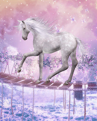 Animal Art wall Home decor oil painting horse unicorn picture Printed Canvas y84