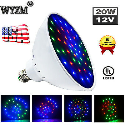 12V 20W Color Changing Swimming Pool LED Light Bulb,for Pentair Hayward Niche