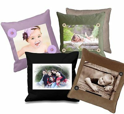 P1 - Printed Fabric Cushion Insert Panel Patchwork - Personalised Family Photo