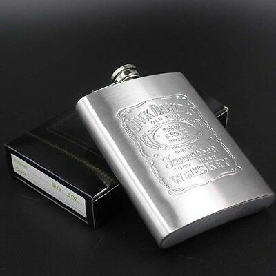 Universal 8oz Portable Pocket Flagon Stainless Steel Whisky Personalized