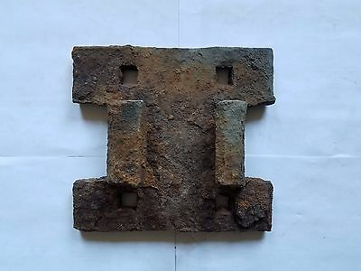 Dug Relics Central Pacific Railroad CPRR Iron Rail Chair Discontinued 1866