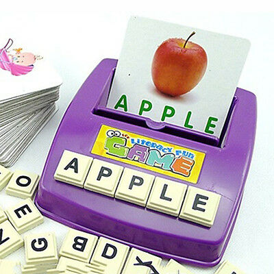 1Set Early Children Educational Toys Fun Learning English Spell the Word Toy