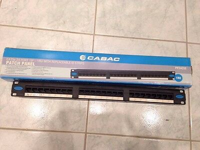 """Cabac Cat5E 24 Port 19"""" 1Ru With Replaceable Id Strips"""