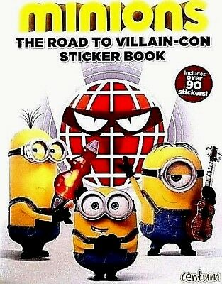 minions | The Road to Villain-Con | 90+ Stickers | Children's Book | New