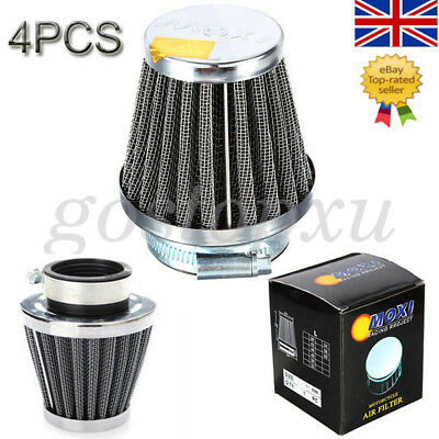 4PCS Motorcycle Universal Chrome Power Scooter Cone race Air Filter 60MM Filters