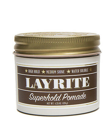 Layrite Superhold Deluxe Pomade Hair Styling Matte Clay Gel 4 oz (113g) *BNWT*