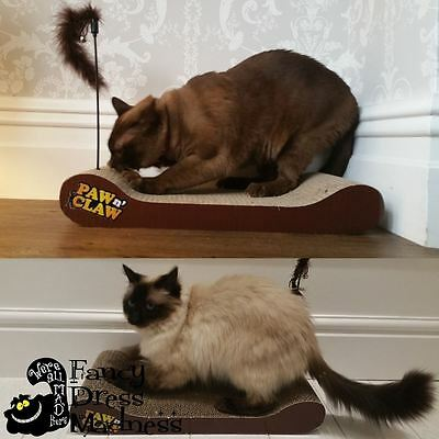Cardboard Cat Scratcher + Free Catnip Cat Sofa Bed Scratch Mat