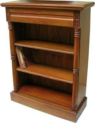 Solid Mahogany Victorian Bookcase with 2 adjustable shelves NEW BCS002