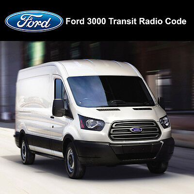 Ford 3000 Transit Radio Stereo Code Stereo Pin Car Unlock Fast Service 6000cd