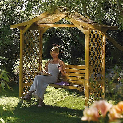 Swing Seat Garden Arbour Comfortable Sturdy Pressure Treated FSC Softwood