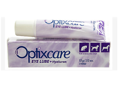 Optixcare Eye Lube Plus Hyaluron  20g Pet eye lubricating drops.