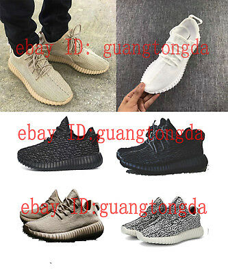 Men breathable yeezys boost shoes 350 running shoes lace leisure sports shoes