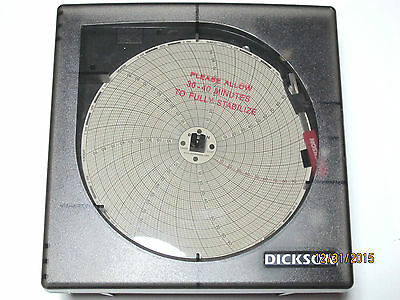 """Dickson Kt621 Temperature Chart Recorder K-Thermacouple 6"""" Chart"""