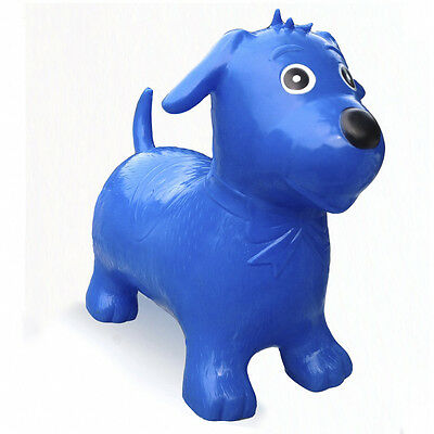 Happy Hopperz Ride On Bouncing Animal - Blue Dog - Suitable from 12 Months
