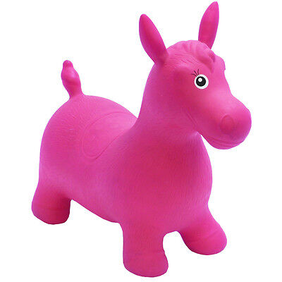 Happy Hopperz Ride On Bouncing Animal - Pink Horse - Suitable from 12 Months