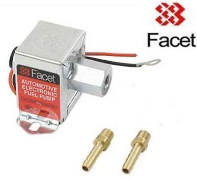 FACET 3.0-4.5psi Fuel Pump with 6mm unions 40105 solid state electric pump