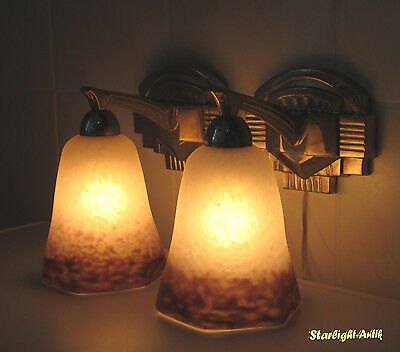 Pair Of Beautiful French Art Deco Sconces 1925 - Signed: Rethondes