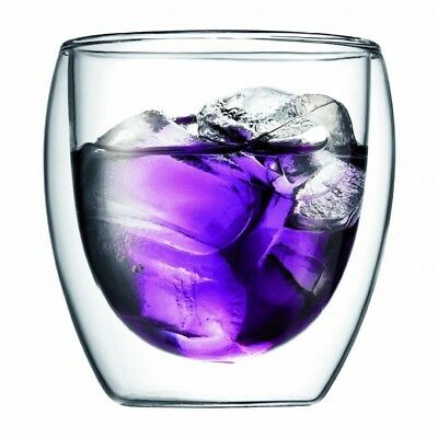 (240ml) - Bodum UK Pavina Double Walled Thermo Glasses 250ml x 2. Brand New