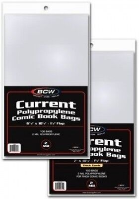 (1, CLASSIC) - 100 - BCW Current Comic Book Bags (100 Sleeve(s) per Pack). Deliv