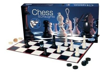 (1, Normal) - Gibsons Games Chess and Draughts Set. Delivery is Free