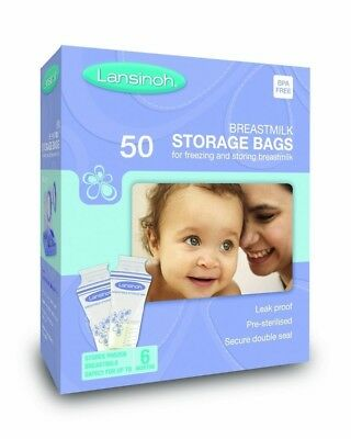 (50 Bags) - Lansinoh Breastmilk Storage Bags (50 Pieces). Shipping is Free