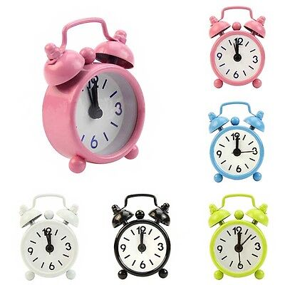 New Home Portable Mini Dial Number Round Table Alarm Clock Decor Gift
