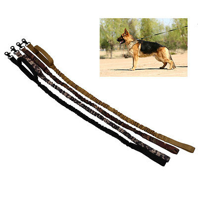 Outdoor Dog Tactical Leash Elastic Strap Adjustable Walk Puppy Leads Rope